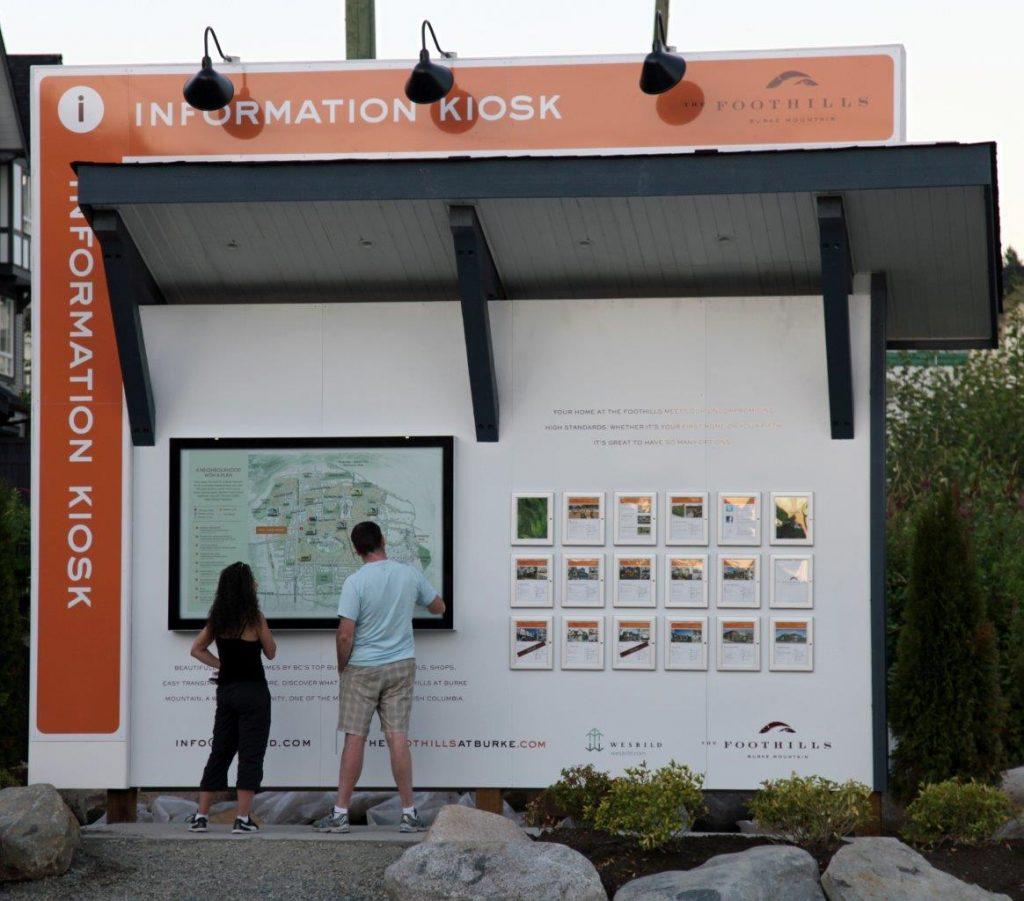 Foothills information kiosk